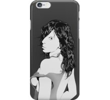 Monochrome Woman Vector iPhone Case/Skin