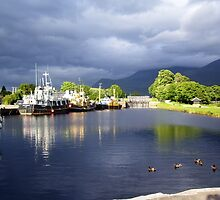 A storm brewing at the Caledonian Canal at Corpach by Pat Millar