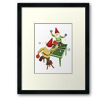 Gnome Pong Framed Print
