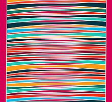 Colorful abstract lines pattern  by silvianna