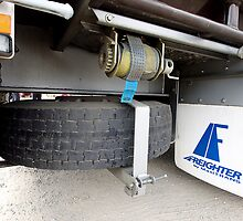 Freighter trailer spare wheel carrier by LIFEPhotography