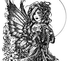 Brenna - the raven fairy by LKBurke29