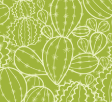 Cactus plants texture pattern Sticker
