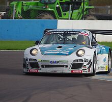 British GT 2013 Donington - #1 Ahmad Al Harthy / Michael Caine - Oman Air Motorbase Porsche 997 GT3 R - Entering Fogarty Esses by motapics