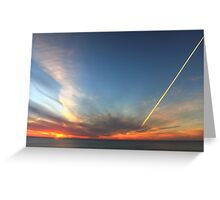 A Sunset's Sky Greeting Card