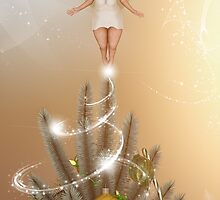 Fairy Atop The Christmas Tree by Liam Liberty