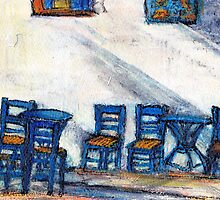 Blue Chairs, Koroni by JackieSherwood