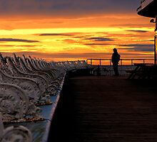 Blackpool pier sunset by picsl8