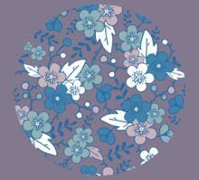 Blue pink kimono flowers pattern Kids Clothes