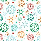 Colorful molecules pattern by oksancia