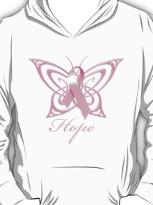 Breast Cancer Hope Butterfly T-Shirt