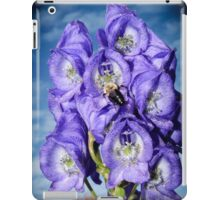 Monks Hood with Bee Vignette iPad Case/Skin