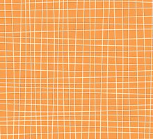 Orange Crosshatch by kwg2200