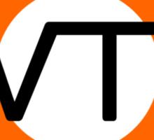 WTF road sign Sticker
