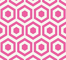 Pink Hexagon Honeycomb by kwg2200