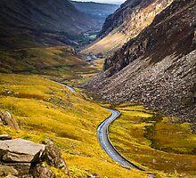 Views from the Pyg Track onto Road Below, Snowdonia by Heidi Stewart