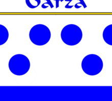Garza Coat of Arms/Family Crest Sticker