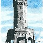 Darwen 'Jubilee' Tower Pencil & Ink Sketch by chrisjh2210