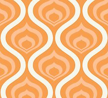 Orange Retro Waves by kwg2200