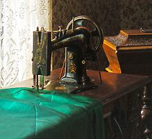 Vintage Sewing Machine Near Window by Susan Savad