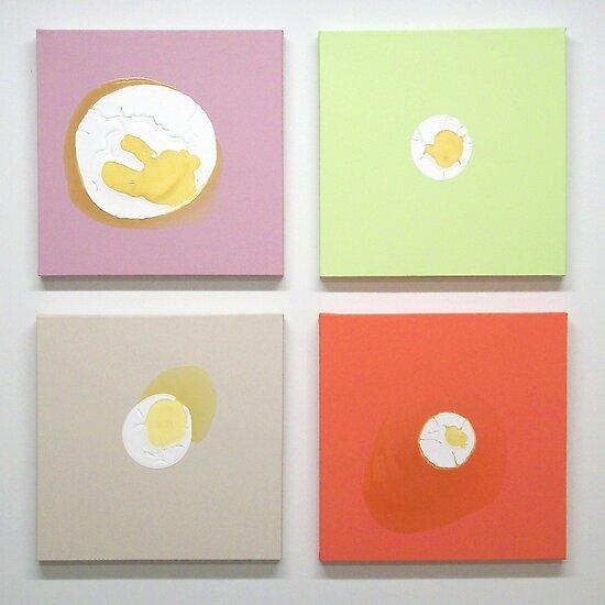 Puddle Paintings - 1 by Jaelah