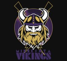 Minnesota Vikings Retro Shirt by fleshandbone