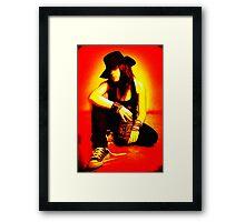 Cool Girl Framed Print