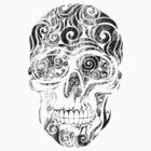 Swirly Skull by CarolinaMatthes