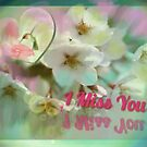 I Miss You Flower Card by Charldia