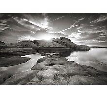 Rocklipse BW Photographic Print