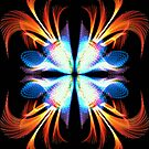 Fire and Ice Fractal Flower by Charldia