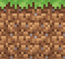 Minecraft Grass Block by Benjamin Cavanagh