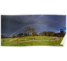 """""""Rainbow At The Rocks"""" Poster"""