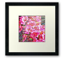 As an acknowledgement of unfathomable persistence. Framed Print