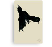 Black Raven Canvas Print