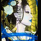 Geisha Phone Case (Blue & Yellow) by Tim Miklos