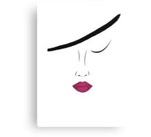 Bordo lips Canvas Print