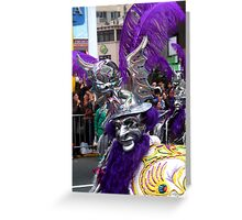 Folk Dancing Diablada Corso Wong Greeting Card