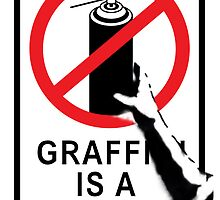 Banksy - Graffiti is not a Crime by Urban Hangings
