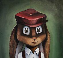 Timothy 'Button' Rabbit by kaydi-did-art
