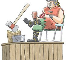 Executioner on Coffee Break by MacKaycartoons