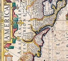 17th Century Map of North America by pjwuebker