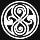 Seal of Rassilon - Classic Doctor Who - White on Black (Clean) by James Ferguson - Darkinc1