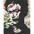 Frida Kahlo Floral Print Phone Case  by georgiagraceart