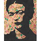 Frida Kahlo Cute Floral Print Phone Case  by georgiagraceart