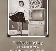 Father's Day Humorous Retro Boob Tube Card by NestToNest