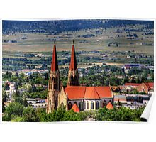 Cathedral of St. Helena View from South Hills Poster