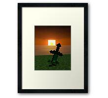 Blade in the sunrise Framed Print