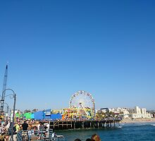 Santa Monica Pier - California by thedovahmaster