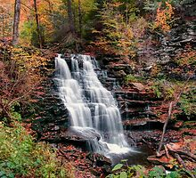 Damp Autumn Afternoon At Erie Falls by Gene Walls